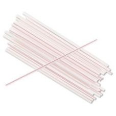 "Cell-O-Core BS8WR 8 White / Red 8"" Collins Straws - 500 / BX"