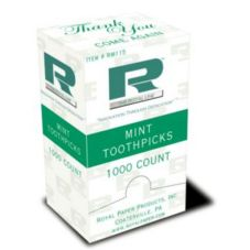 Royal Paper Products RM115 Cello Wrapped Mint Toothpicks - 100 / BX