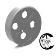 "Win-Holt® 7116 Replacement 8"" x 2"" Mold On Poly Wheel"