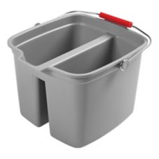Rubbermaid® FG261700GRAY Gray 17 Qt Double Pail
