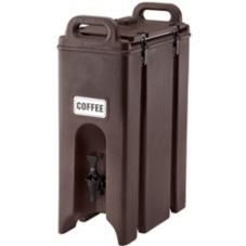 Cambro 500LCD131 Dark Brown 5 Gal. Insulated Beverage Camtainer®