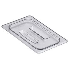 Cambro 40CWCH135 Clear Camwear 1/4 Size Food Pan Cover with Handle