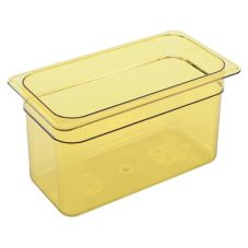 "Cambro Amber 1/3 Size High Heat H-Pan™ 6"" H"