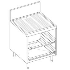 Perlick® 7055A-D Glass Rack Storage Unit with Drain Board Top