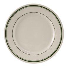 "Tuxton® TGB-016 Green Bay 10-1/2"" Eggshell Plate - 12 / CS"