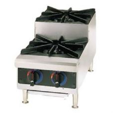 Star® 602HF-SU Star-Max® Gas Step-Up 2-Burner Hot Plate