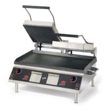 Star® Mfg. Pro-Max® Grooved Double Grill w/ Smooth Bottom