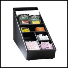 Dispense-Rite 6-Section Black Countertop Organizer