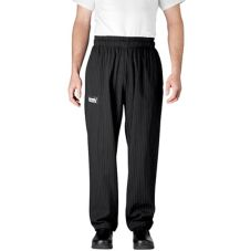 Chefwear® 3500-50 X-Large Black/Grey Pinstripe Ultimate Chef Pants
