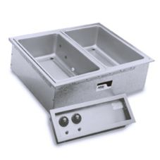 APW Wyott SHFWEZ-2D EZ-Fill Electric Drop-In Hot 2-Pan Food Well Unit