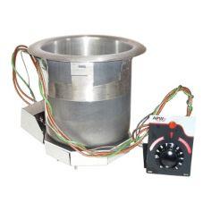 APW Wyott SM-50-7 Electric 7 Qt Round Drop-In Food Warmer w/ E-Z Lock