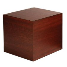 "Gourmet Display® 8"" Woodgrain Laminate Display Cube"