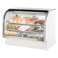 True® TCGG-60 White Curved Glass 30 Cu Ft Refrigerated Deli Case