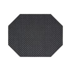 "FOH XPM037BKV83 11"" x 14"" Basketweave Placemat - 12 / CS"