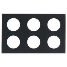 """Cal-Mil 707-12 Black Acrylic 12"""" x 20"""" 6 Hole Carafe Collar"""