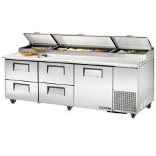 True® S/S 1-Door 4-Drawer 30.9 Cu Ft Pizza Prep Table