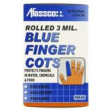 Afassco® 5014 Small Blue Finger Cots - 144 / BX
