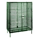 "Metro SEC56K3 Green Epoxy Stationary 62""L Security Unit With Metroseal"