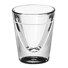 Lined 1 oz Whiskey Glass w/ 5/8 oz Line