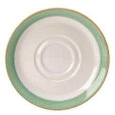 "Steelite 15290225 Rio Green 6.5"" Double Well Soup Stand - 36 / CS"