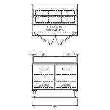 "Randell® 9305-7 Refrigerated 48"" Long Salad Top Prep Table"