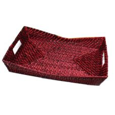 Front Of The House® Scarlet Flare Rattan Tray