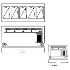 "Randell® 14GFG HTD-5S RanServe 72"" 5 Well Open Hot Food Table"