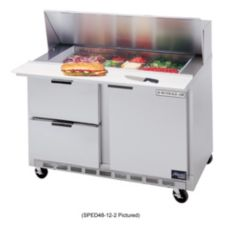 Beverage-Air SPED48-08-4 Elite Refrigerated Counter w/ 8 Pan Openings