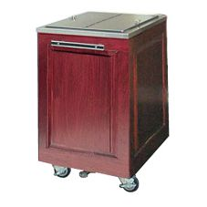 FWE S/S Insulated Mobile Ice Bin, 200 Lb Capacity