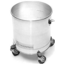 Geerpres 2221 Stainless Steel 8 Gallon Bucket With Casters