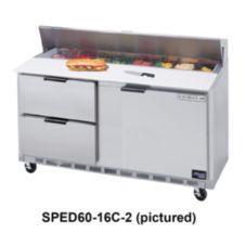 Beverage-Air SPED60-08C-2 Elite Refrigerated Counter w/ 8 Pan Openings