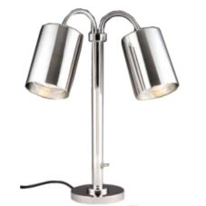 D.W. Haber 0499MR2 S/P Modern 2-Head Portable Heat Lamp