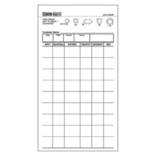 GuestChecks White 2-Part Carbonless 8-Line Waiter Pad