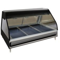 Alto-Shaam ED2-48/P-BLK Halo Heat Self Service Countertop Display Case