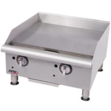 "APW Wyott GGT-18I 18"" Gas Thermostatic Countertop Griddle"