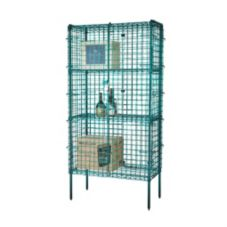 "Focus Foodservice FSEC243663GN 24 x 36 x 63""H Green Security Cage Kit"