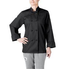 Chefwear® 4430-30 Women's Small Black Three-Star Chef Jacket