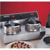 "NEMCO 7000-2 Dual Waffle Baker With 7"" Fixed Aluminum Grid"