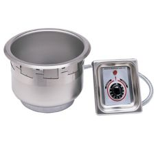 APW Wyott SM-50-4 UL Elec. 4 Qt Round Drop-In Food Warmer w/ E-Z Lock