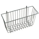 "Metro® H209-DSG Super Erecta® 13 x 5 x 7"" Smoked Glass Basket"
