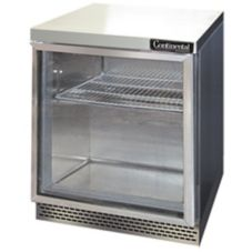 Continental 7.4 Cf Front Breathing Worktop Refrigerator w/ Glass Door