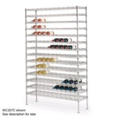 Metro® WC238C Super Erecta Chrome 14 x 36 Cradle Wine Shelving