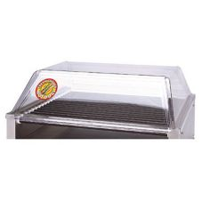 APW Wyott SG-45DD Polycarbonate Sloped Sneeze Guard for Hot Dog Grill