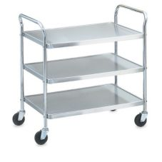 Money Saver Knockdown S/S 3-Shelf Cart