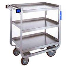 "Lakeside® 722 S/S HD 700 lb Capacity 18"" x 27"" 3-Shelf Cart"