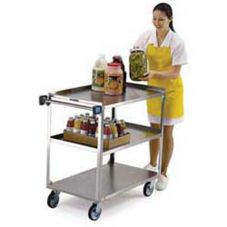 Lakeside® 444 S/S 500 lb Capacity 3-Shelf Cart With Swivel Casters