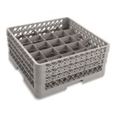 Traex® TR6BBA Beige 25 Compartment Glass Rack with 3 Extenders