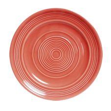 "Tuxton CNA-104 Concentrix® 10-1/2"" Round Cinnebar Plate - 12 / CS"