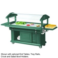 Cambro® 5 Ft. Kentucky Green Ultra Food Bar with Storage Cabinet