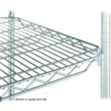 "Metro 2436QBR qwikSLOT™ 24 x 36"" Brite® Finish Wire Shelf"